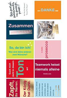 10er Postkarten Set lustige Sprüche Cityproducts hochwertig