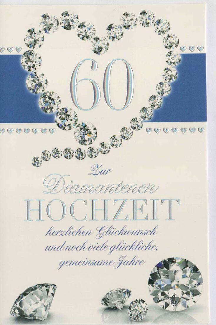 Diamantene hochzeit für glückwünsche Glückwünsche Diamantene