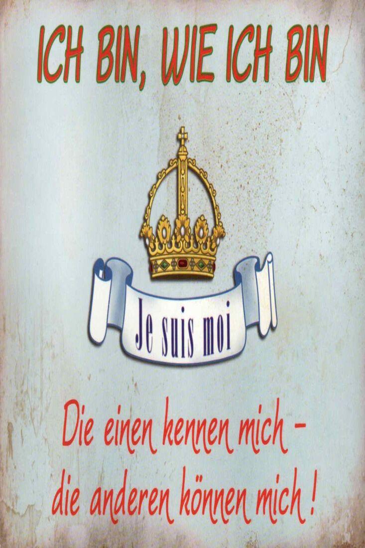 Postkarte witzig Spruch Ich bin ,wie ich bin