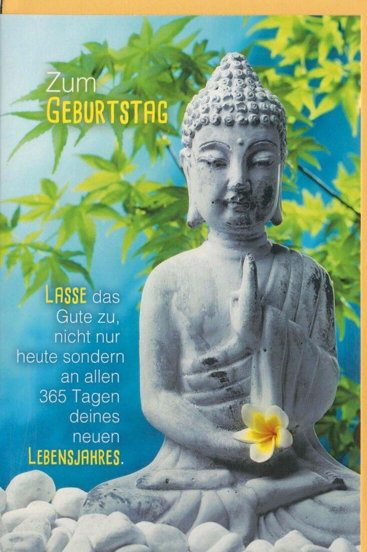 Yoga Geburtstagskarte Spirituell Lasse Das Gute Zu