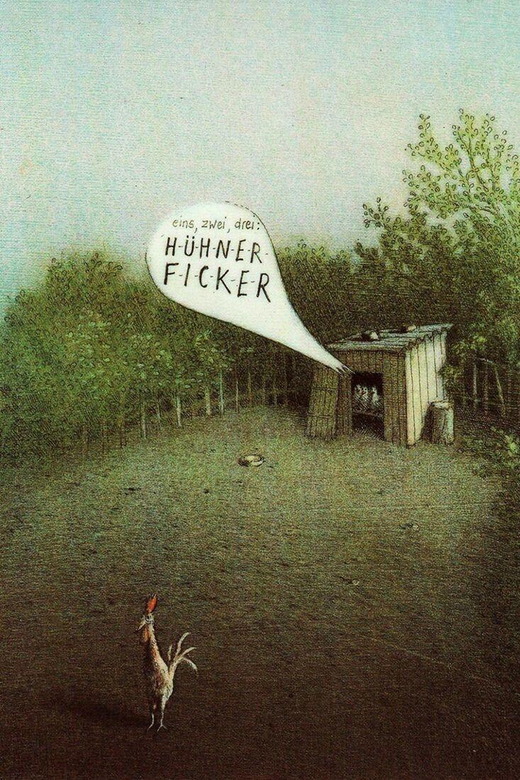 Postkarte Hühner Ficker