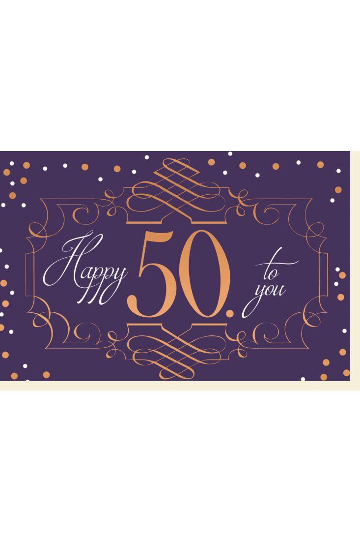 Geburtstagskarte 50 Happy 50 to you