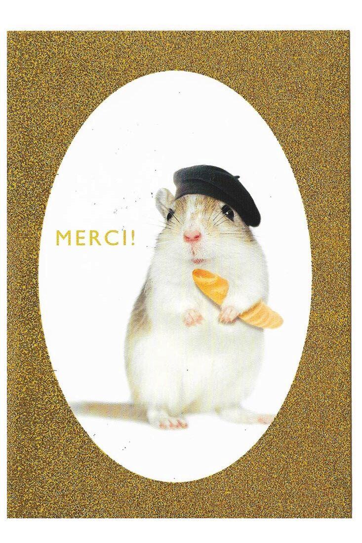 Grußkarten Grußkarte Danke Hamster Merci