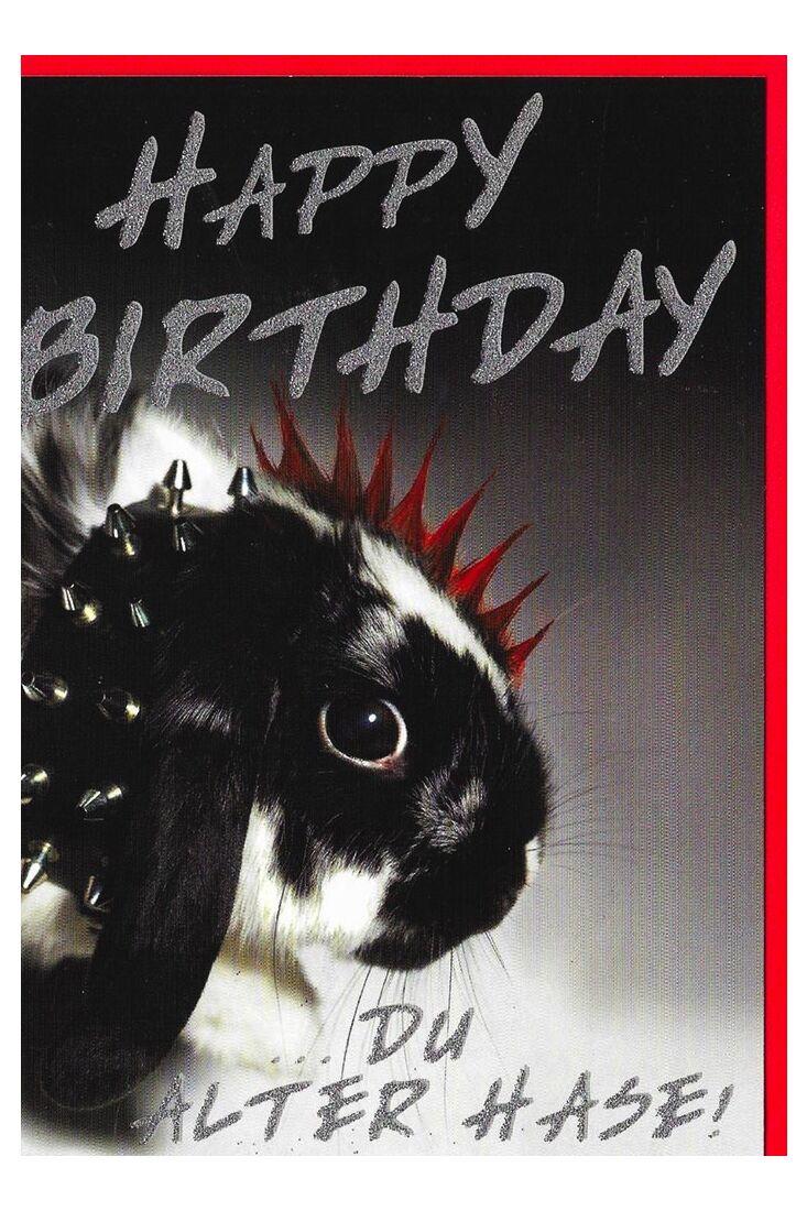 Geburtstagskarten lustig;Glückwunschkarten Geburtstag Geburtstagskarte Vogel lustig alter Hase
