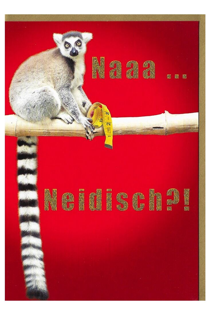 Geburtstagskarten für Männer;Grußkarten Grußkarte lustig Affe na neidisch