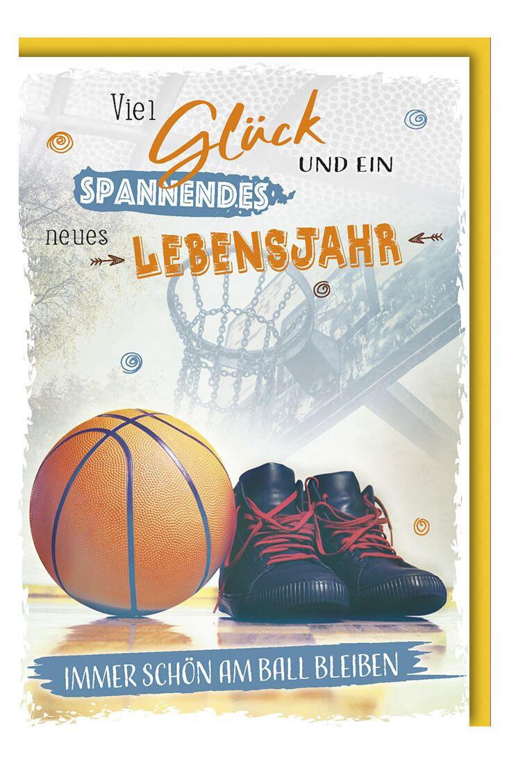 Geburtstagskarte Männer Basketball