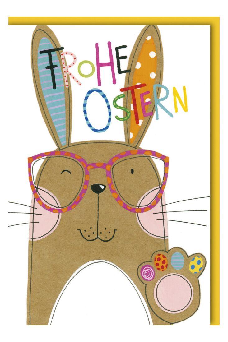 Osterkarte - Hase mit Brille
