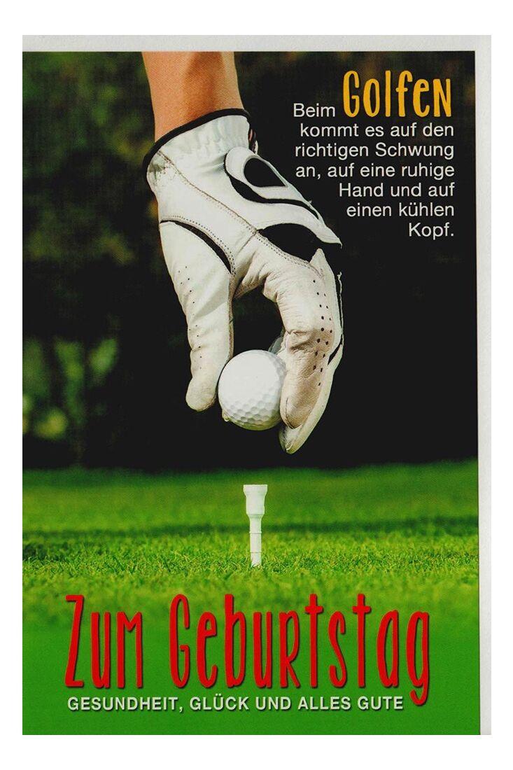 Geburtstagskarte für Golfspieler und Golfer mit Golfball