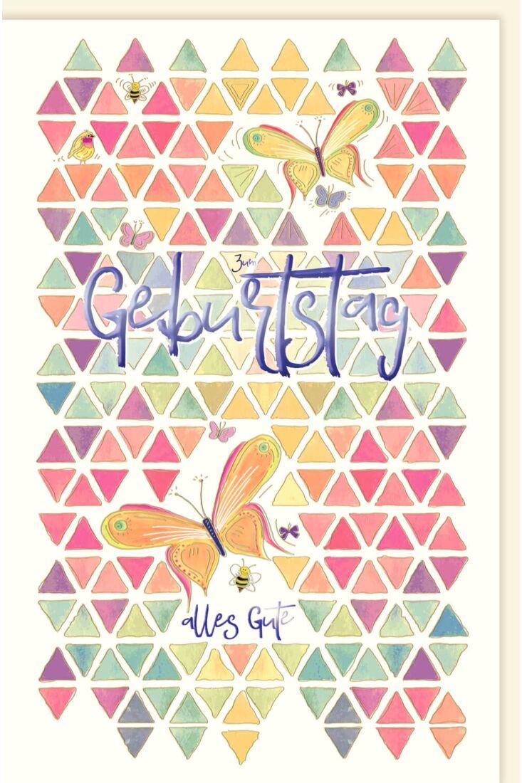 Glückwunschkarte Geburtstag Schmetterling Geburtstag alles Gute