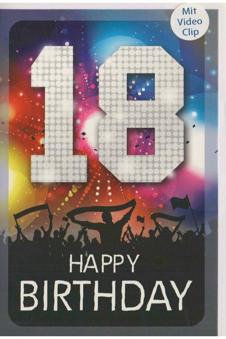 Geburtstagskarte 18 Party Konzert