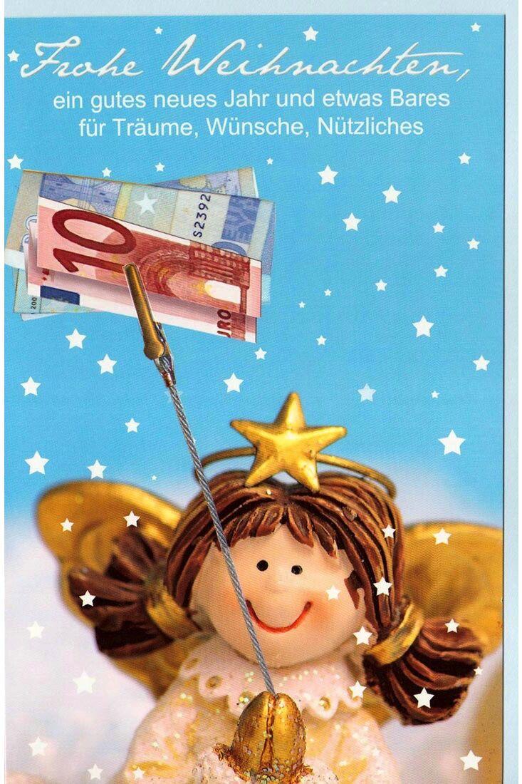 Weihnachtskarte Engel Geld Geldgeschenk
