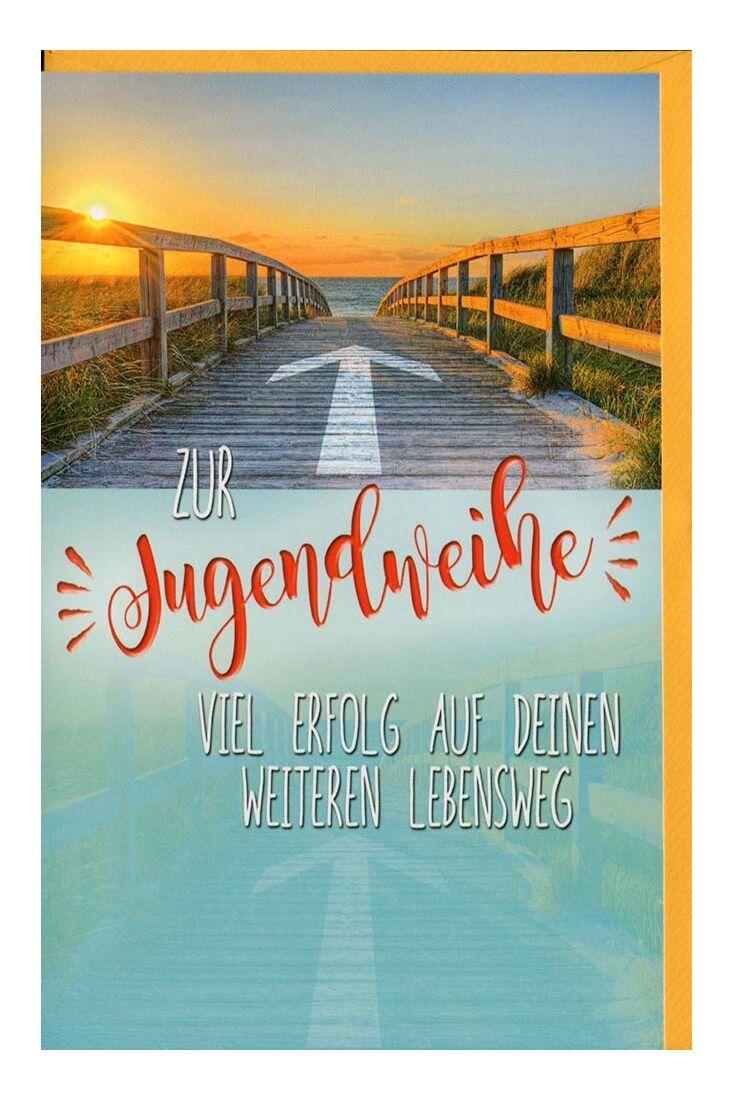 Glückwunschkarten zur Jugendweihe Karte zur Jugendweihe Lebensweg