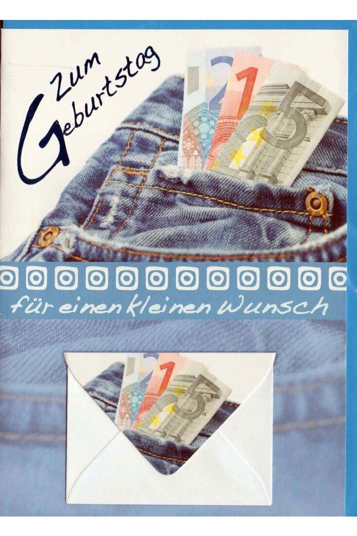 Geburtstagskarte mit Geldfach: Für kleine Wünsche