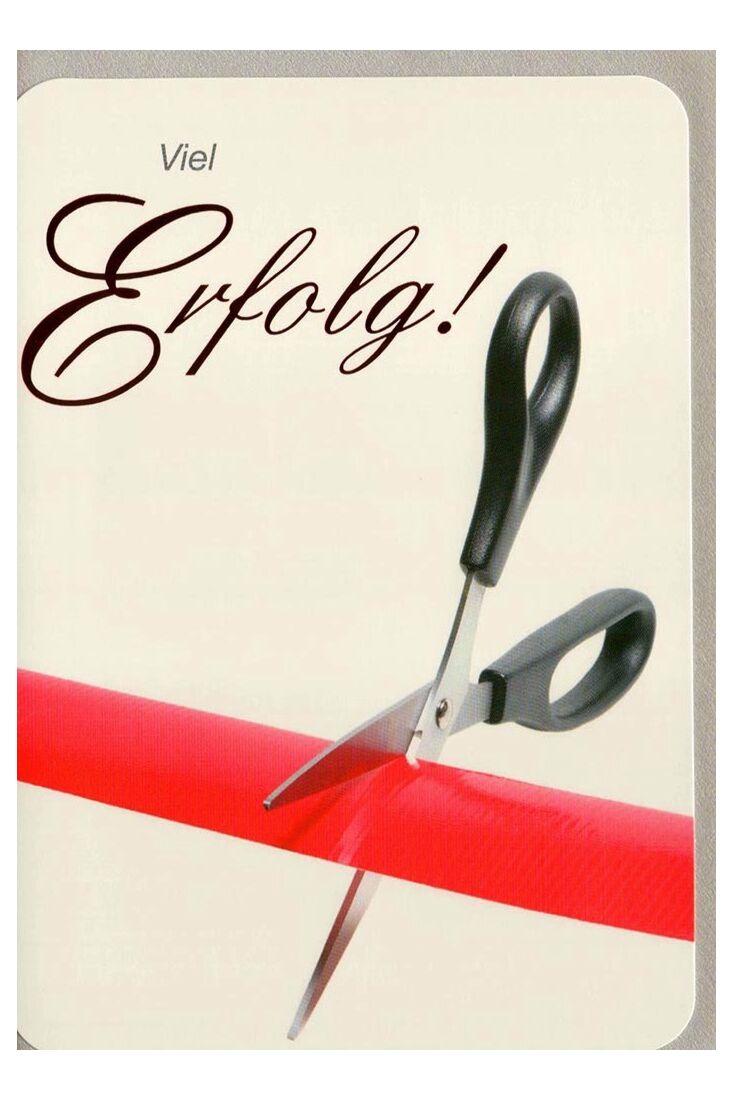 Viel Glück Karten;Business Grußkarten Grußkarte viel Erfolg Schere hochwertig