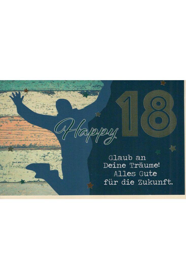 Glückwunschkarte 18 Geburtstag: Happy 18