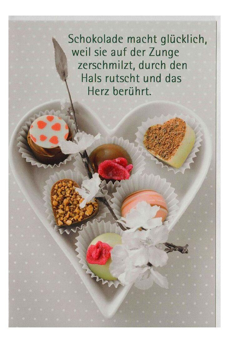 Grußkarte Schokolade macht glücklich