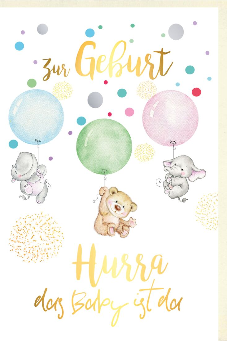 Glückwunschkarte Geburt Zur Geburt Hurra das Baby ist da