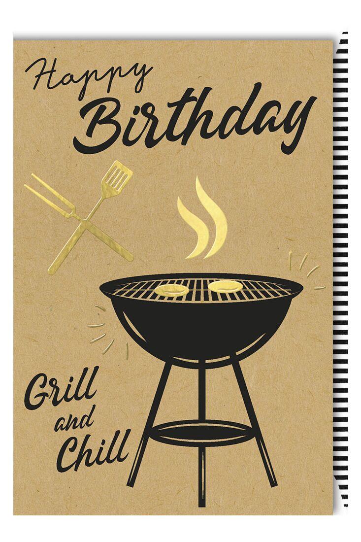 Geburtstagskarte Männer Kraftpapier Spruch