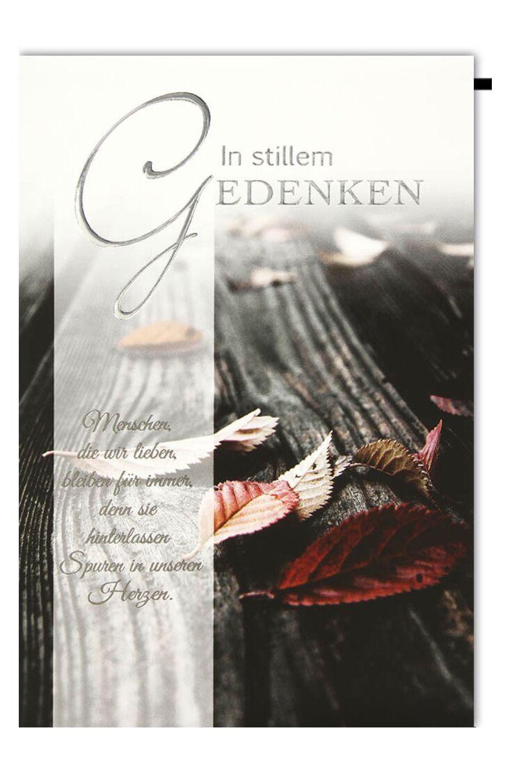 Trauerkarten Herbstblätter In stillem Gedenken