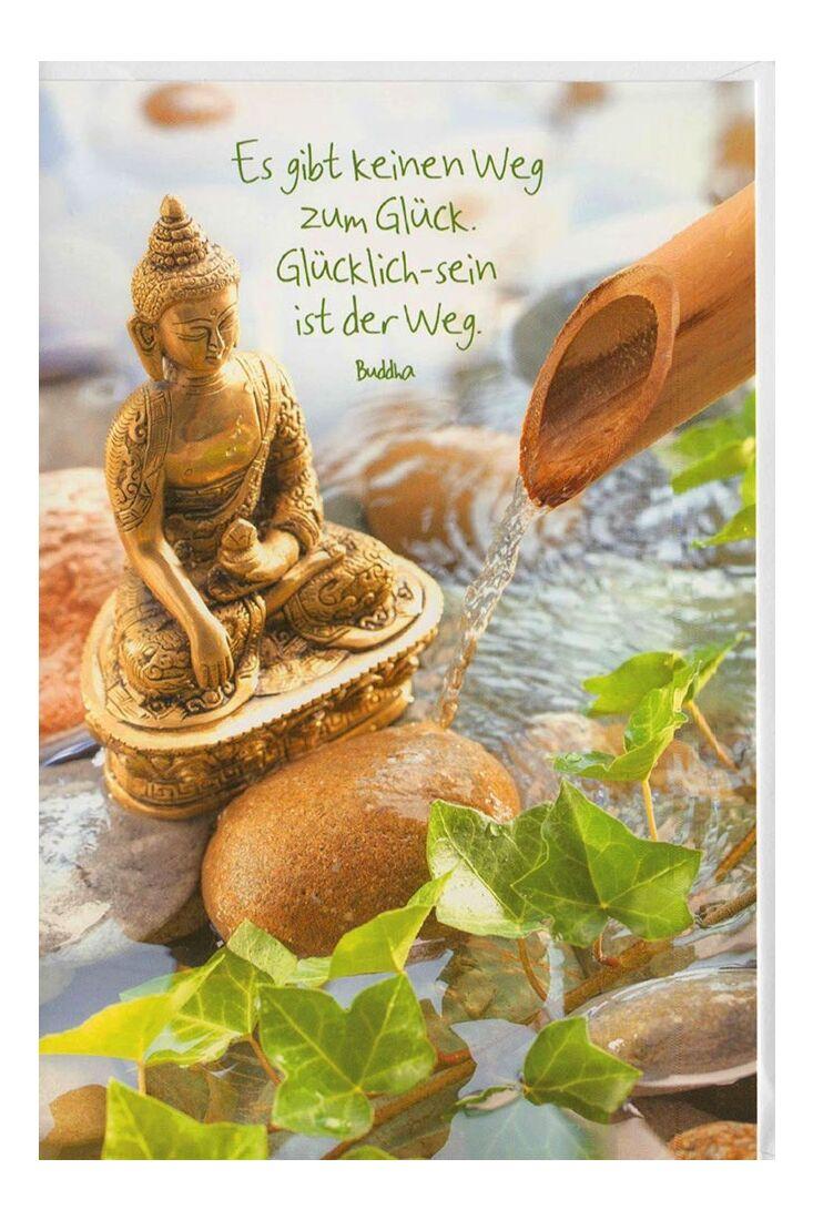Grußkarten Grußkarte Yoga Spruch Buddha Glück
