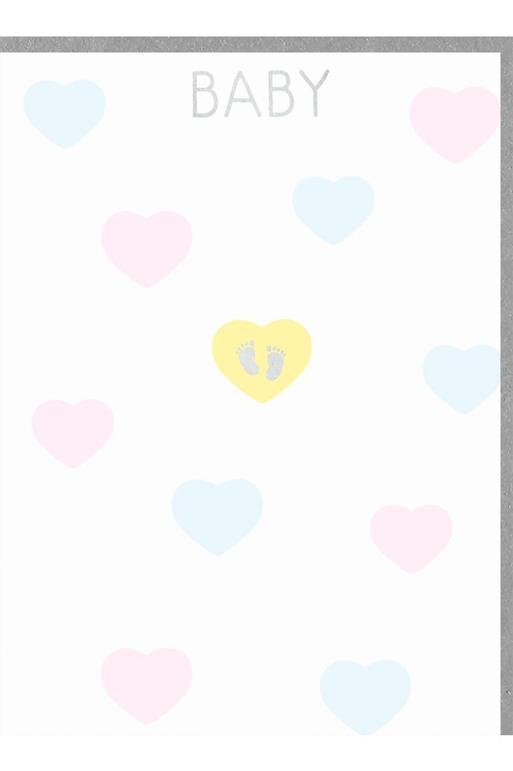 Glückwunschkarte zur Geburt hoch Baby