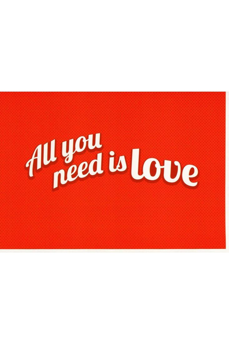 Valentinstag Karten Karte Valentinstag All you need is love