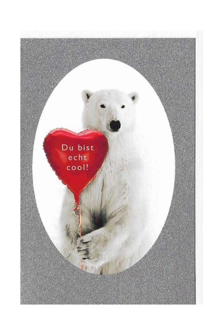 Valentinstag Karten Valentinstagskarte Bär Herz Du bist echt cool