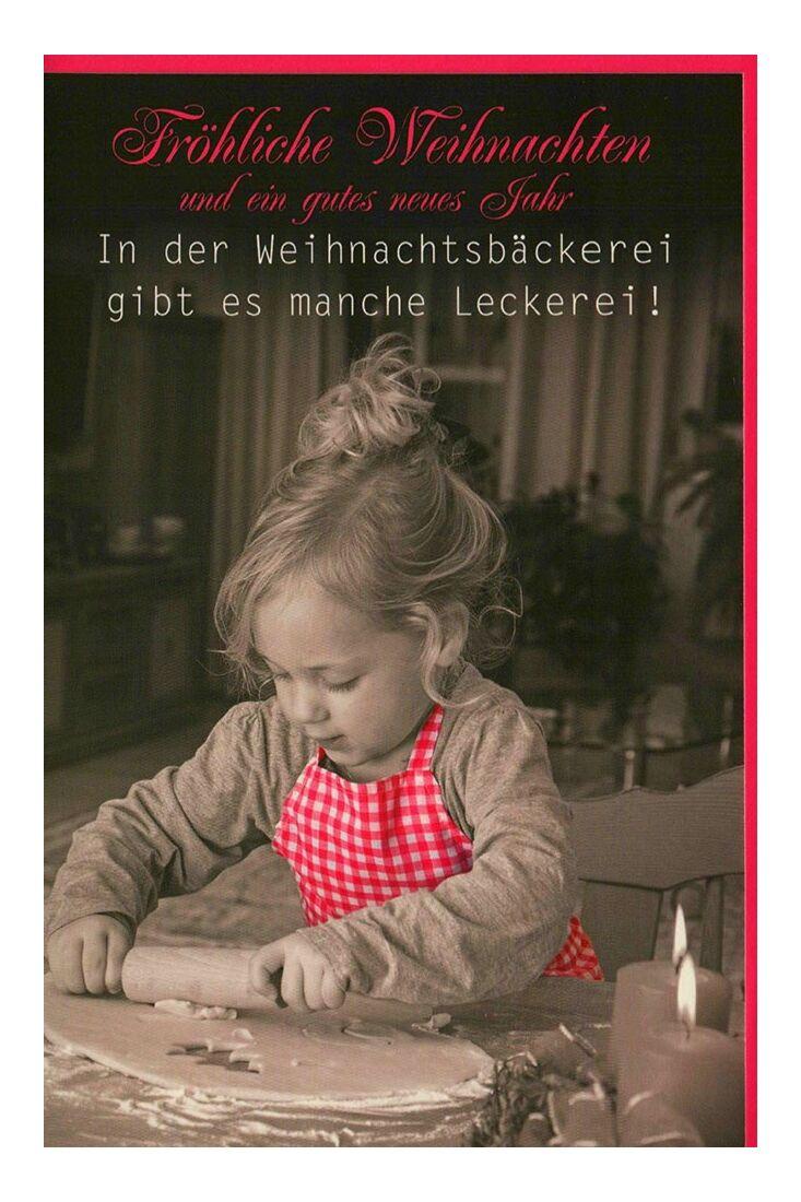 Weihnachtsgrußkarten Weihnachtskarte Weihnachtsbäckerei Kind Plätzchen