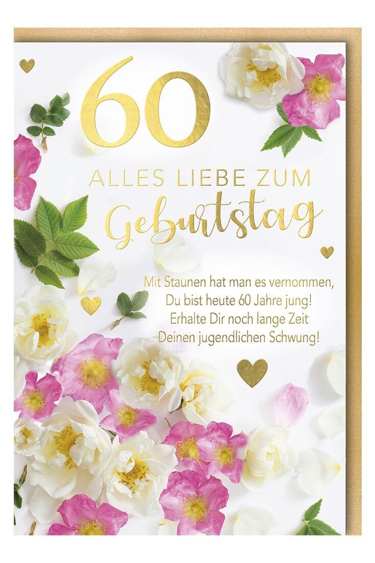 Geburtstagskarte 60 Jahre Mit Staunen hat man es vernommen