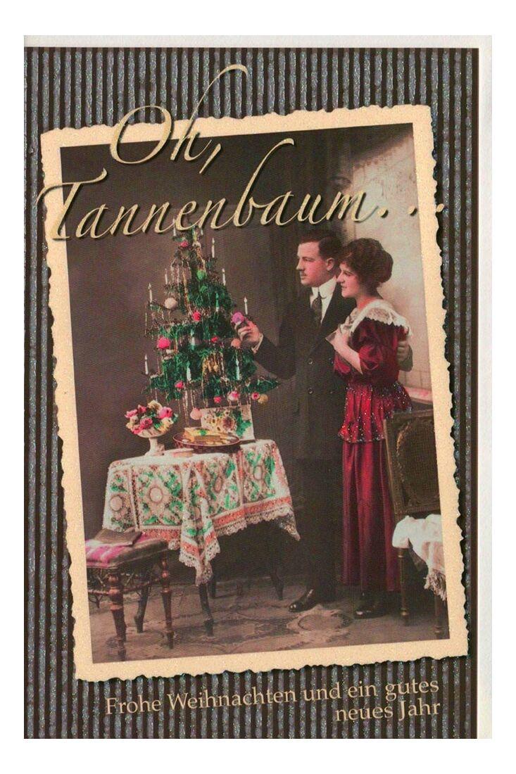 Weihnachtsgrußkarten Weihnachtskarte retro Motiv klassisch