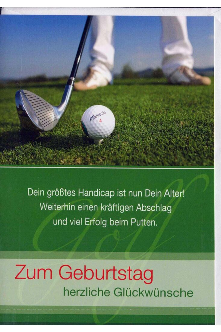 Geburtstagskarte Mann: Golfspieler
