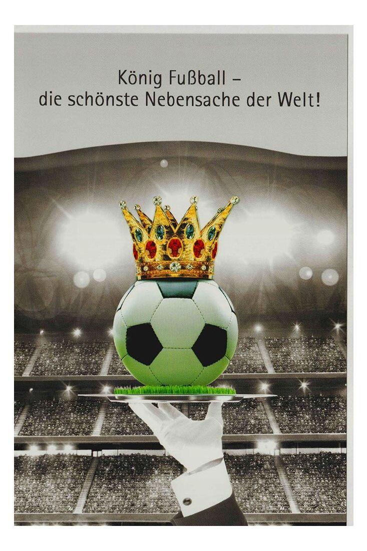 Grußkarte König Fußball Männder