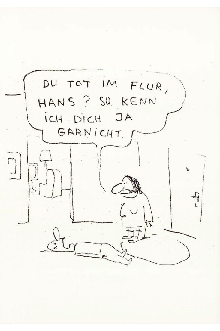 Du tot im Flur, Hans? So kenn ich dich ja garnicht!