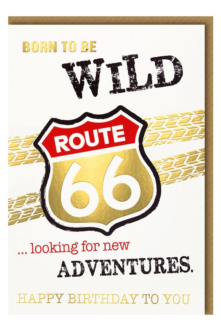 Geburtstagskarte für Männer Route 66