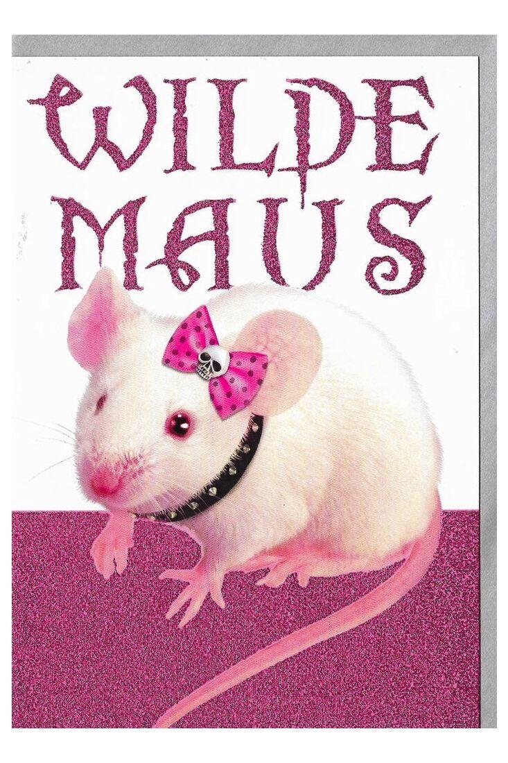 Geburtstagskarten für Frauen Geburtstagskarte für Frauen Glimmerlack wilde Maus