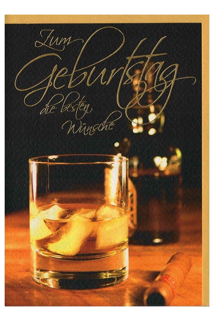 Geburtstagskarten für Männer;Glückwunschkarten Geburtstag Glückwunschkarte Geburtstag Mann Whisky und Zigarre