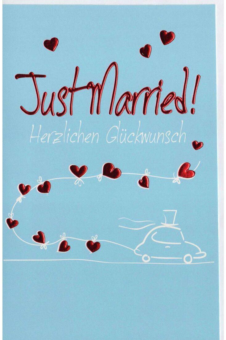 Ausgefallene Hochzeitskarte Just Married