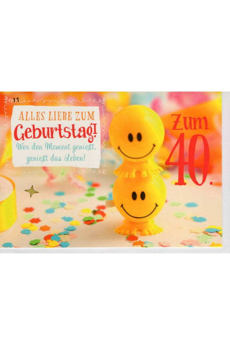 Karte 40 Geburtstag Alles Liebe