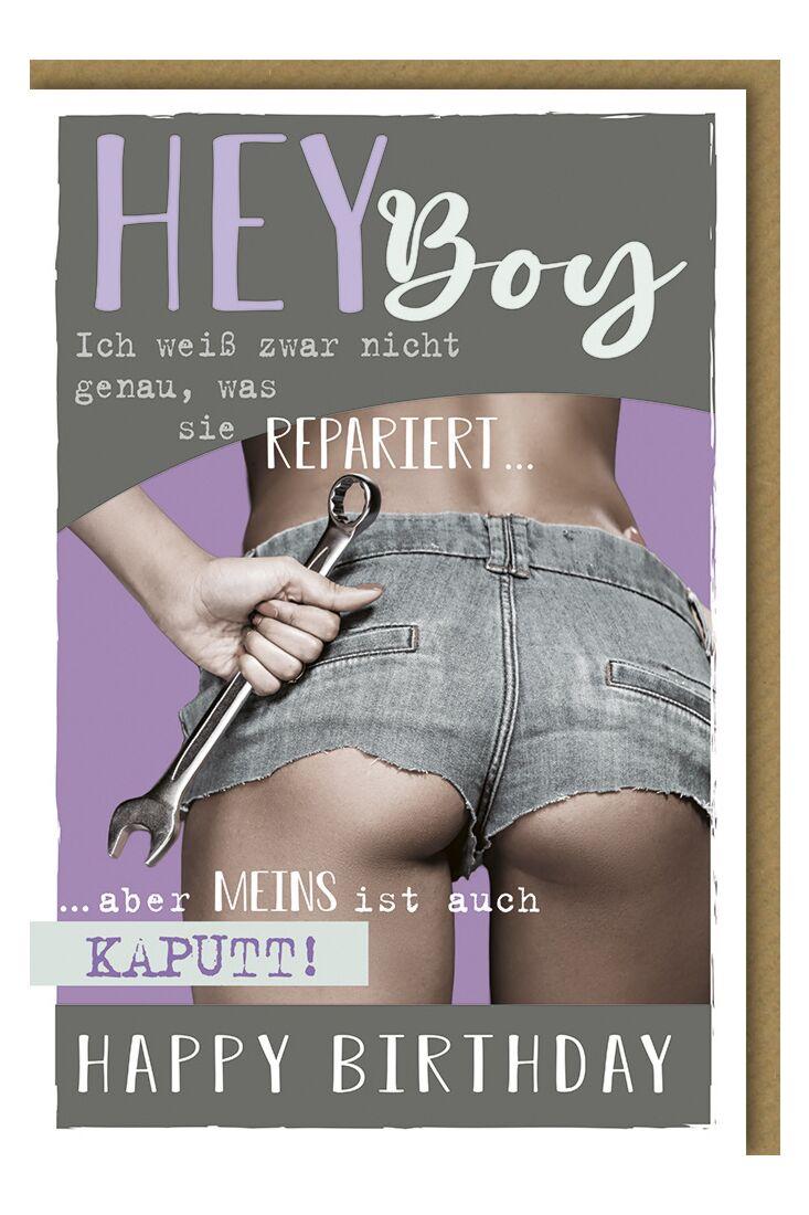 Geburtstagskarte für Männer Hey Boy