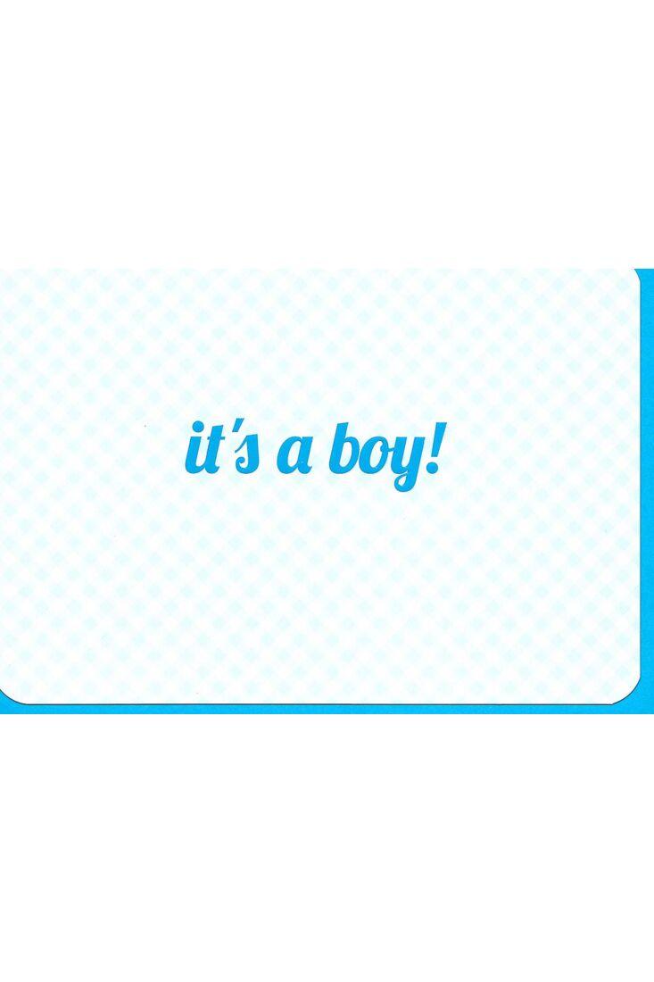 Glückwunschkarte Spruch Geburt Junge: It´s a boy