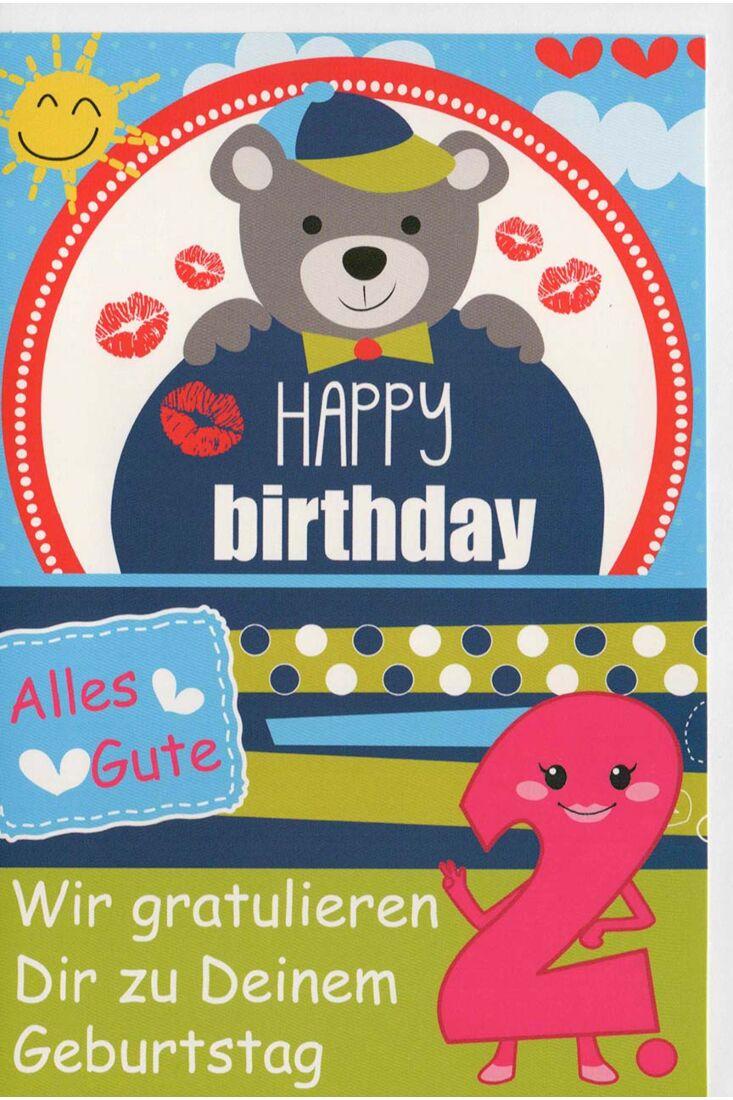 Glückwunschkarte 2 Geburtstag Wir gratulieren Dir