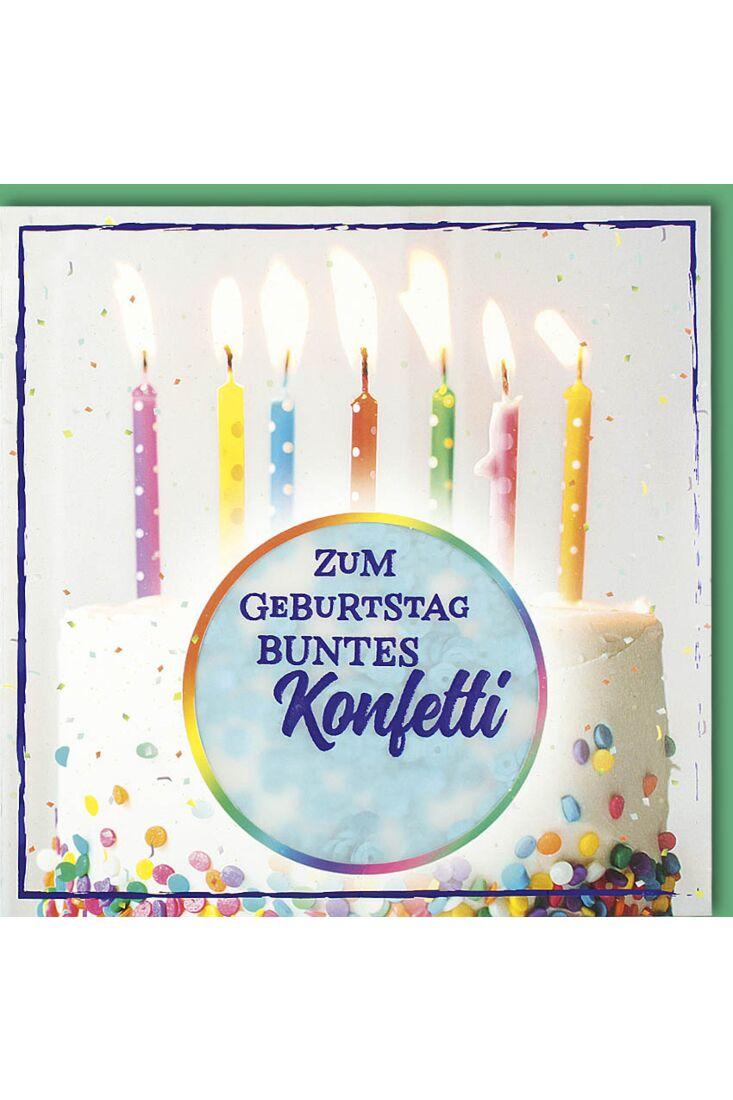 Glückwunschkarte Geburtstag Zum Geburtstag buntes Konfetti