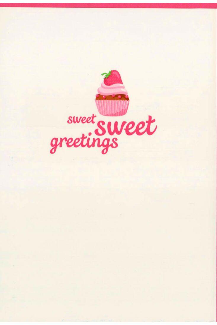 Grußkarte Kuchen liebevoll: sweet sweet greetings