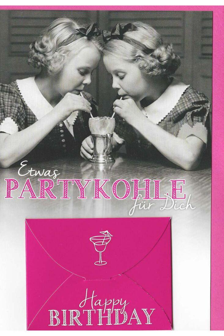 Geburtstagskarte mit Kuvert für Geld Frauen Partykohle