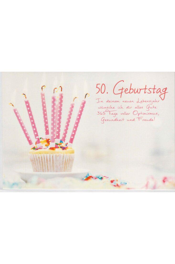 Geburtstagskarte 50 In deinem neuen Lebensjahr