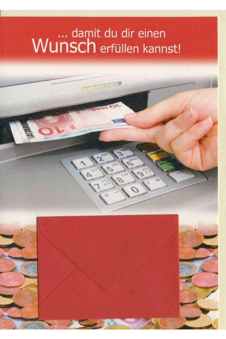 Geldgeschenkkarte Damit du dir einen Wunsch erfüllen kannst