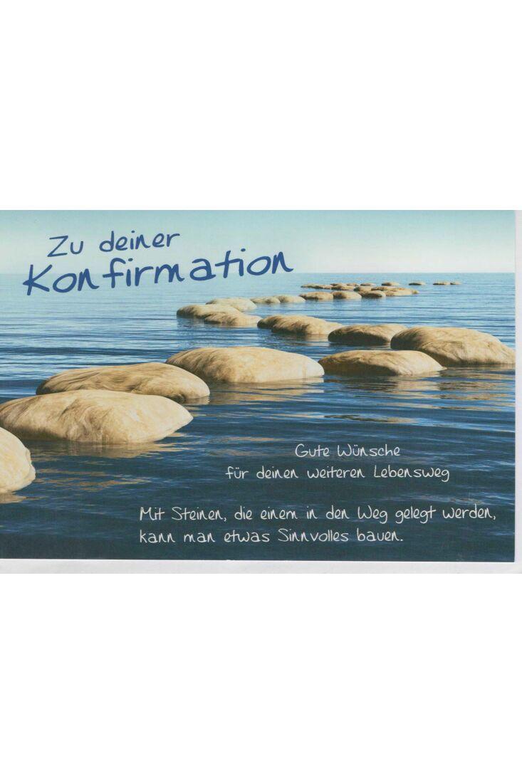 Schöne Konfirmationskarte Steine im Meer Lebensweg