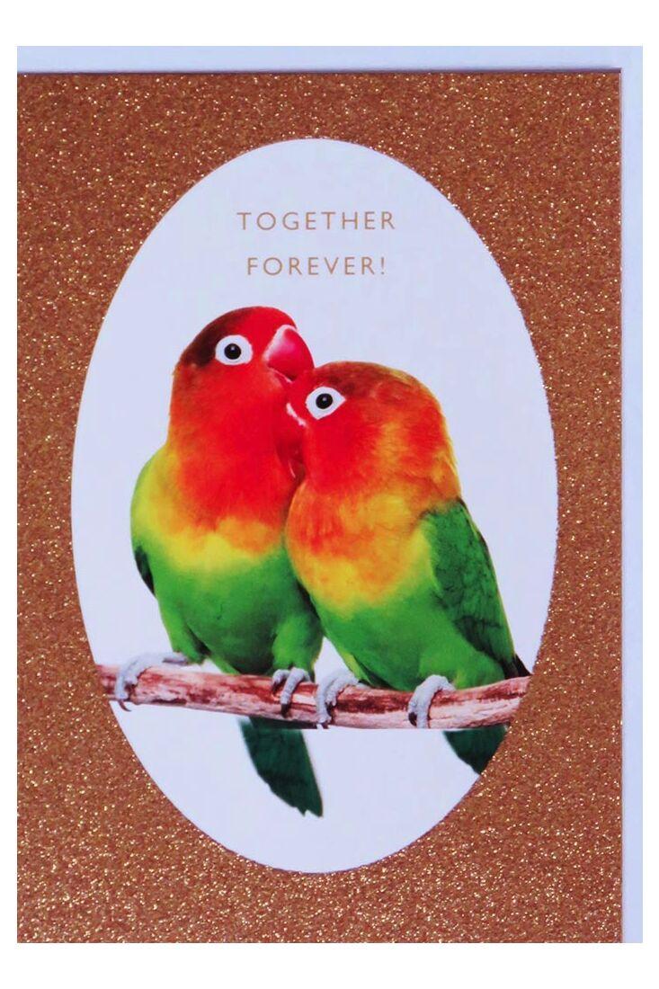 Grußkarten;Valentinstag Karten Hochzeitskarte Glitzerlack originell Together Forever!