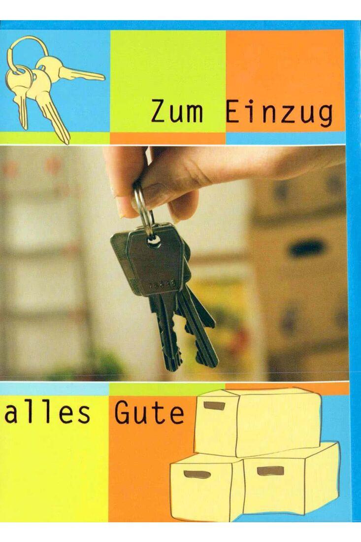 Karte Einzug: Hausschlüssel