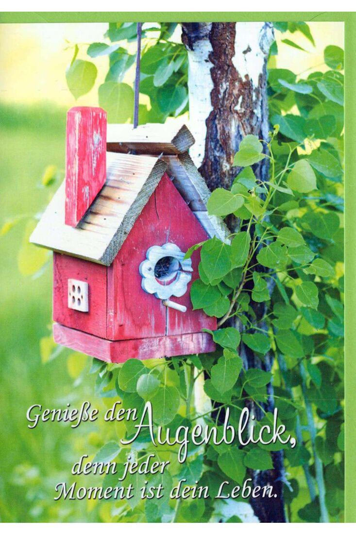 Karte Sprüche: Vogelhaus